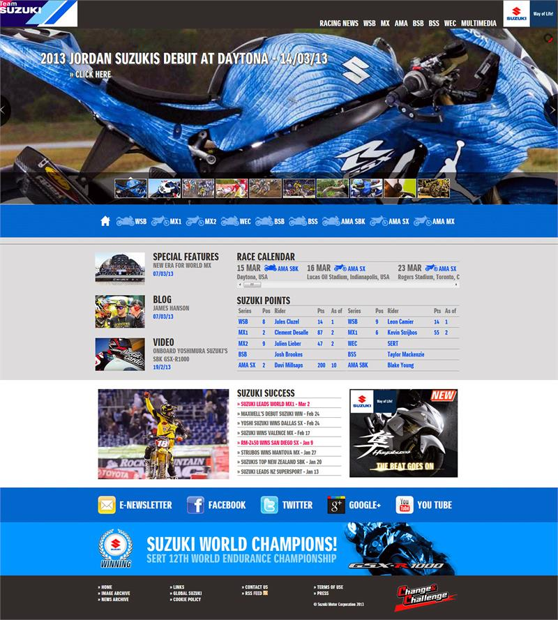 2013 Suzuki Website