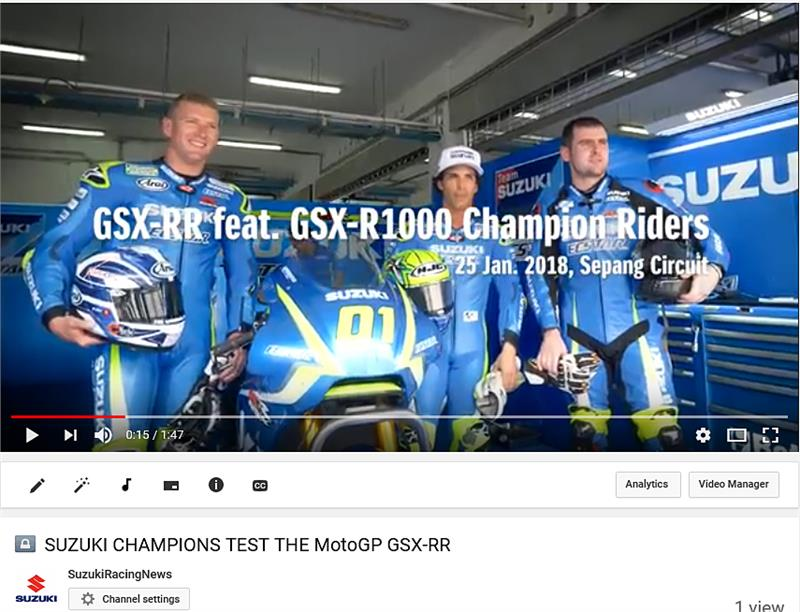 Sepang rider test Video