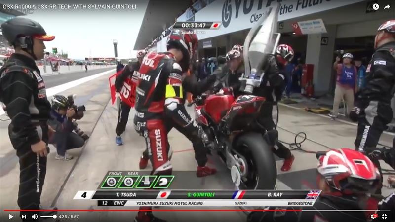 Guintoli Video-Suzuka pitstop